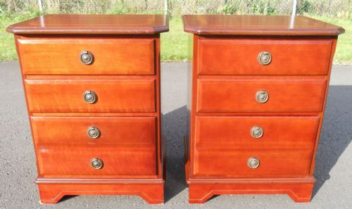 Pair Mahogany Bedside Chest of Drawers